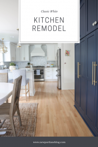 Classic White Kitchen Remodel with Coastal Accents   Newport Lane