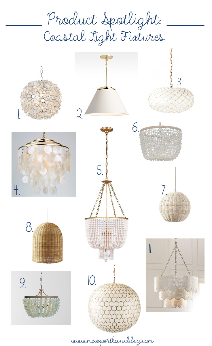 Coastal light fixtures perfect for any budget