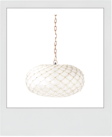 Serena and Lily Capiz Scalloped Chandelier