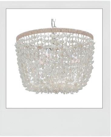 KOUBOO Inverted Pendant Lamp, Bubble Seashell, White