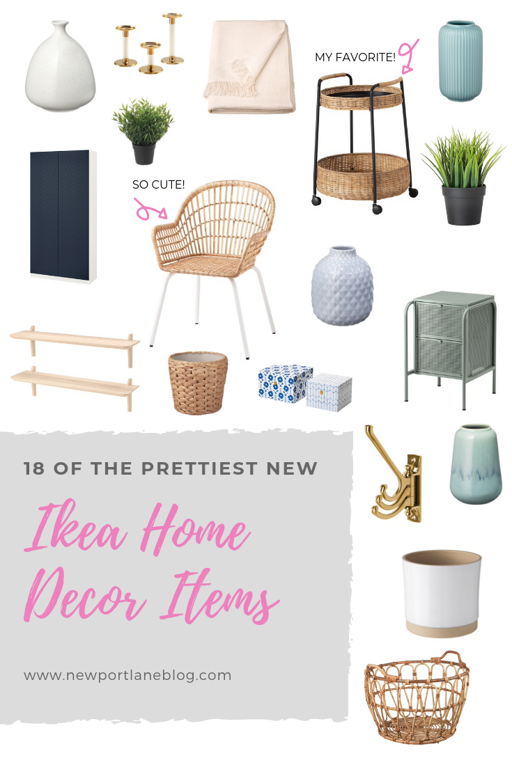18 of the best Ikea decor items from the 2020 catalog. Perfect decor for a modern coastal home. #ikea #moderncoastal #ikeadecor #moderncoastaldecor #blueandwhite #neutraldecor