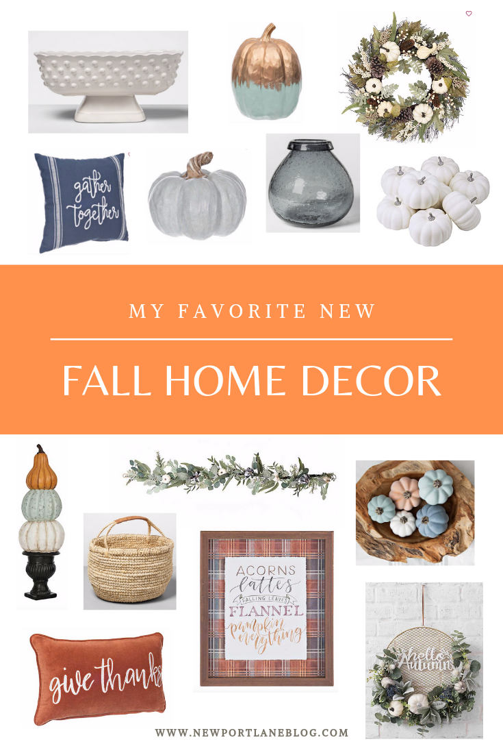 My favorite new fall home decor finds. Lots of great fall decorating ideas. #falldecor #fallhomedecor #autumndecor #plaid #pumpkins