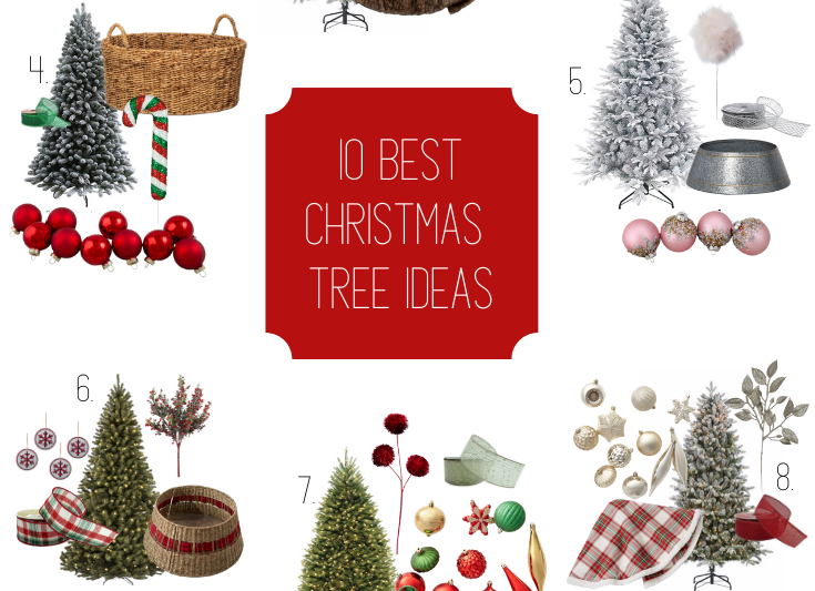 10 Best Christmas Tree Ideas for 2019. Glam Tree, Rustic Tree, Red and Green Tree, Tree Collar, Tree Skirt. #christmastree #bestchristmastreeideas