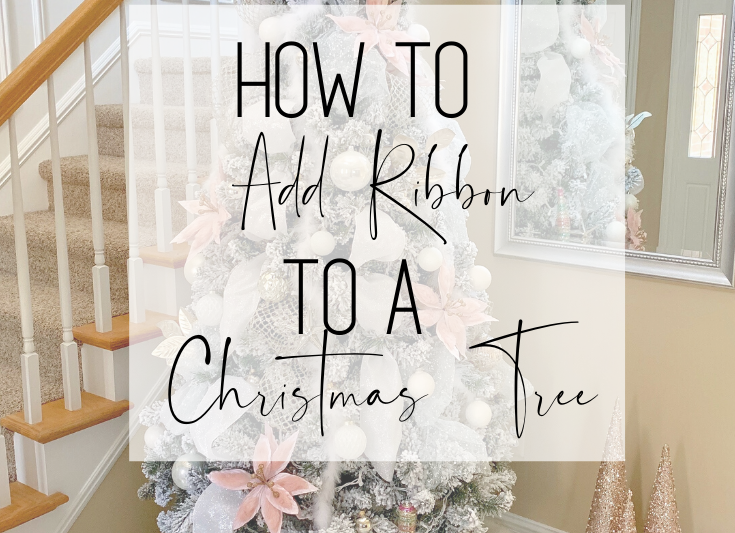 How to Add Ribbon to a Christmas Tree. #christmastree #christmasdecorations #christmas