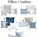 Affordable Blue & White Pillow Combos