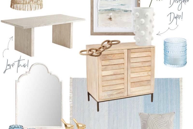 My favorite coastal decor finds. #coastal #moderncoastal #blueandwhite #neutrals