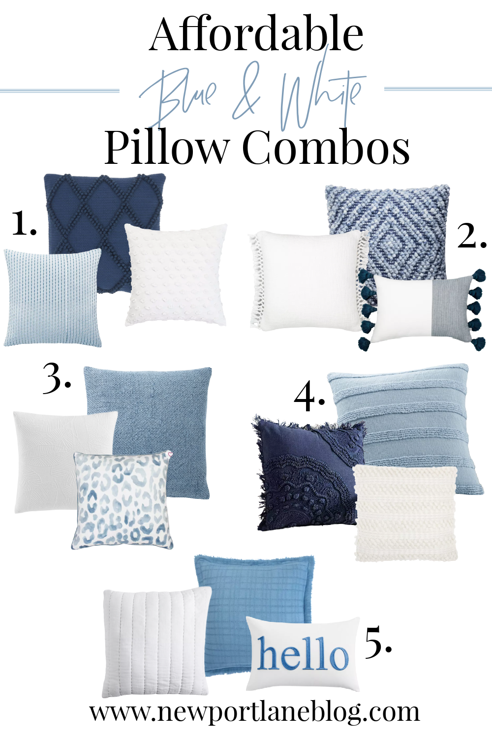 Blue and White Pillows - Light Blue and White Pillows - Blue Decorative Pillows - Blue and White Pillows Target - Blue and White Pillows Amazon - Navy Blue and White Throw Pillows - Etsy Blue and White Pillows