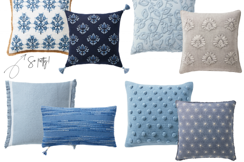 Get the scoop on the prettiest Serena and Lily Throw Pillows on sale! #serenaandlily #throwpillows