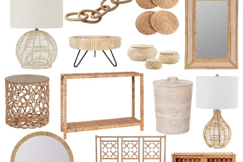 The Best Rattan and Wicker Home Decor Finds
