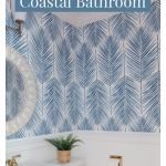 Our Blue and White Coastal Powder Room Makeover
