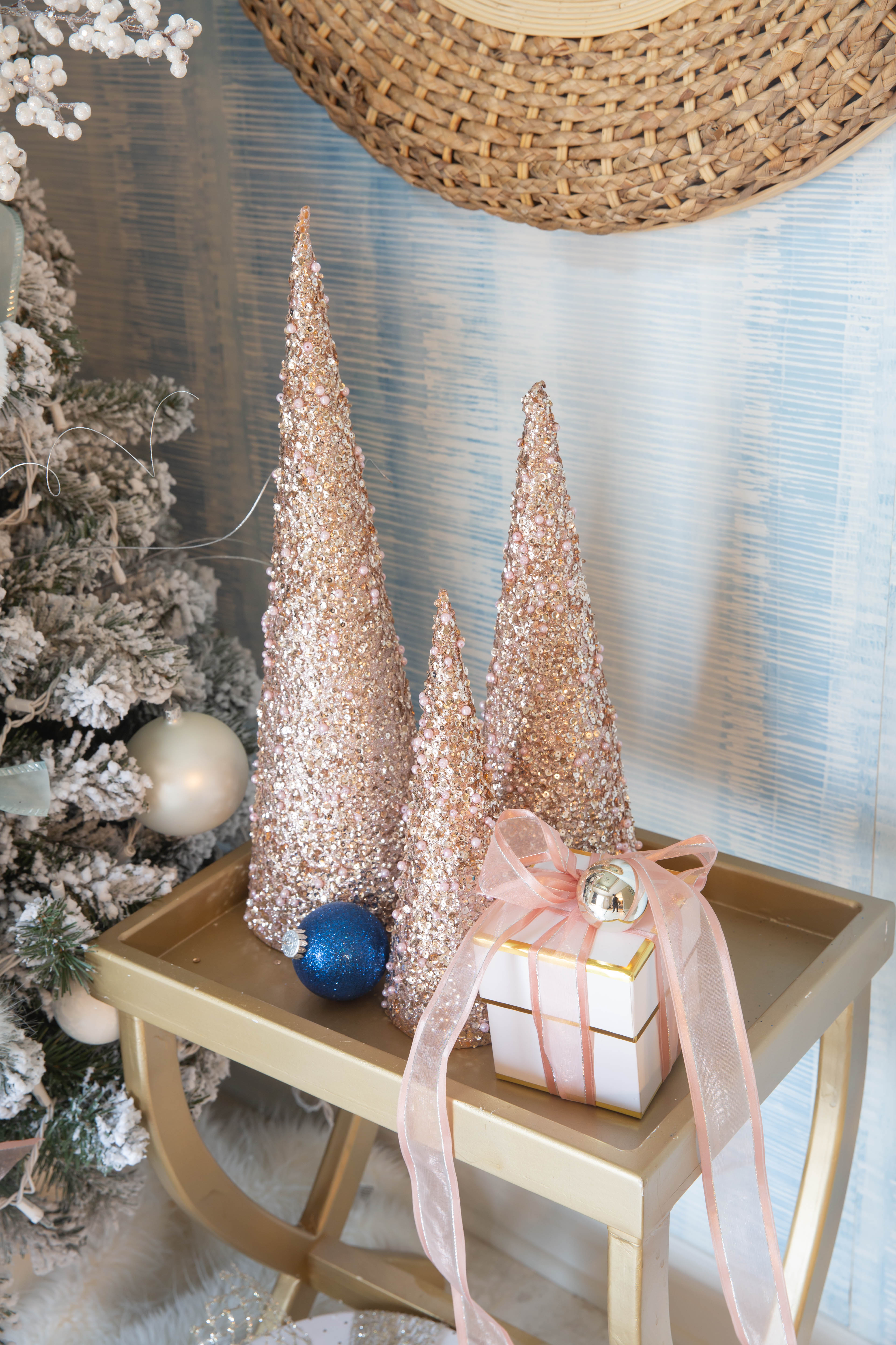 Pink And Navy Christmas Tree Newport Lane