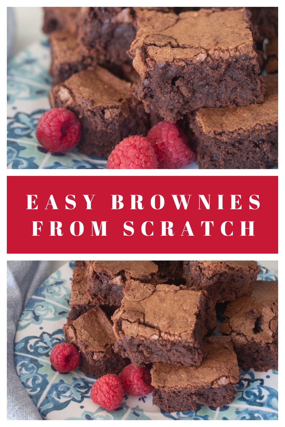 Easy Brownies from Scratch - Best Brownies from Scratch - How to Make Brownies for Beginners - Brownie Recipe with Cocoa Powder - Chocolate Chip Brownies - Homemade Brownies from Scratch - How to Make Brownies from Scratch