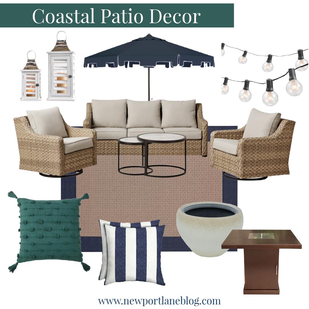Coastal Patio Decor Ideas - Outdoor Coastal Yard Decor - Beach Themed Patio Ideas