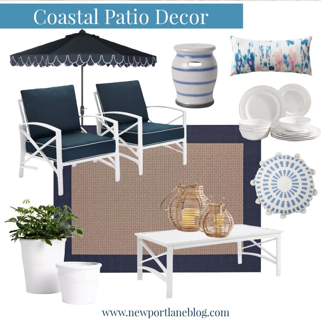 Coastal Patio Decor Ideas - Outdoor Coastal Yard Ideas - Coastal Patio Decor Ideas