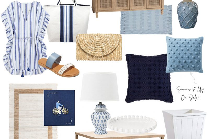 Blue Home Decor - Coastal Blue Home Decor - Natural Wood Home Decor - Blue Fashion - Summer Fashion Essentials