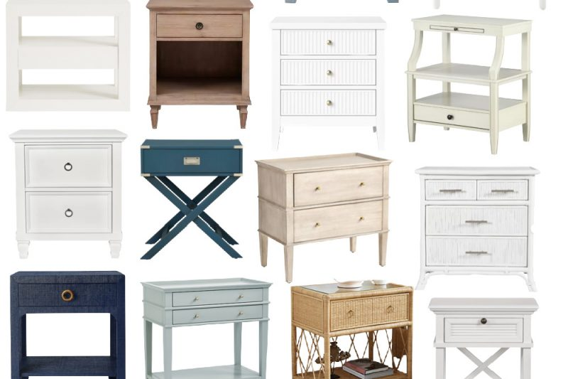 Coastal Living Nightstands - Coastal Style Nightstands - Nautical Nightstands - Coastal Bedroom Furniture - Driftwood Nightstand - Tropical Nightstand - White Coastal Nightstands - Blue Coastal Nightstands
