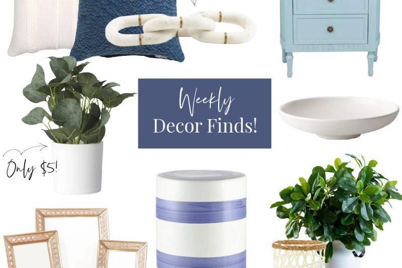 Blue and White Home Decor | Blue and White Coastal Home Decor | Amazon Home Decor | Blue and White Decor from Amazon | Grandmillenial Style Home Decor | Beach House Decor | Lake House Decor | Rattan Furniture