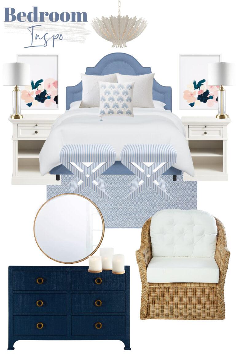Blue + White Bedroom Inspo