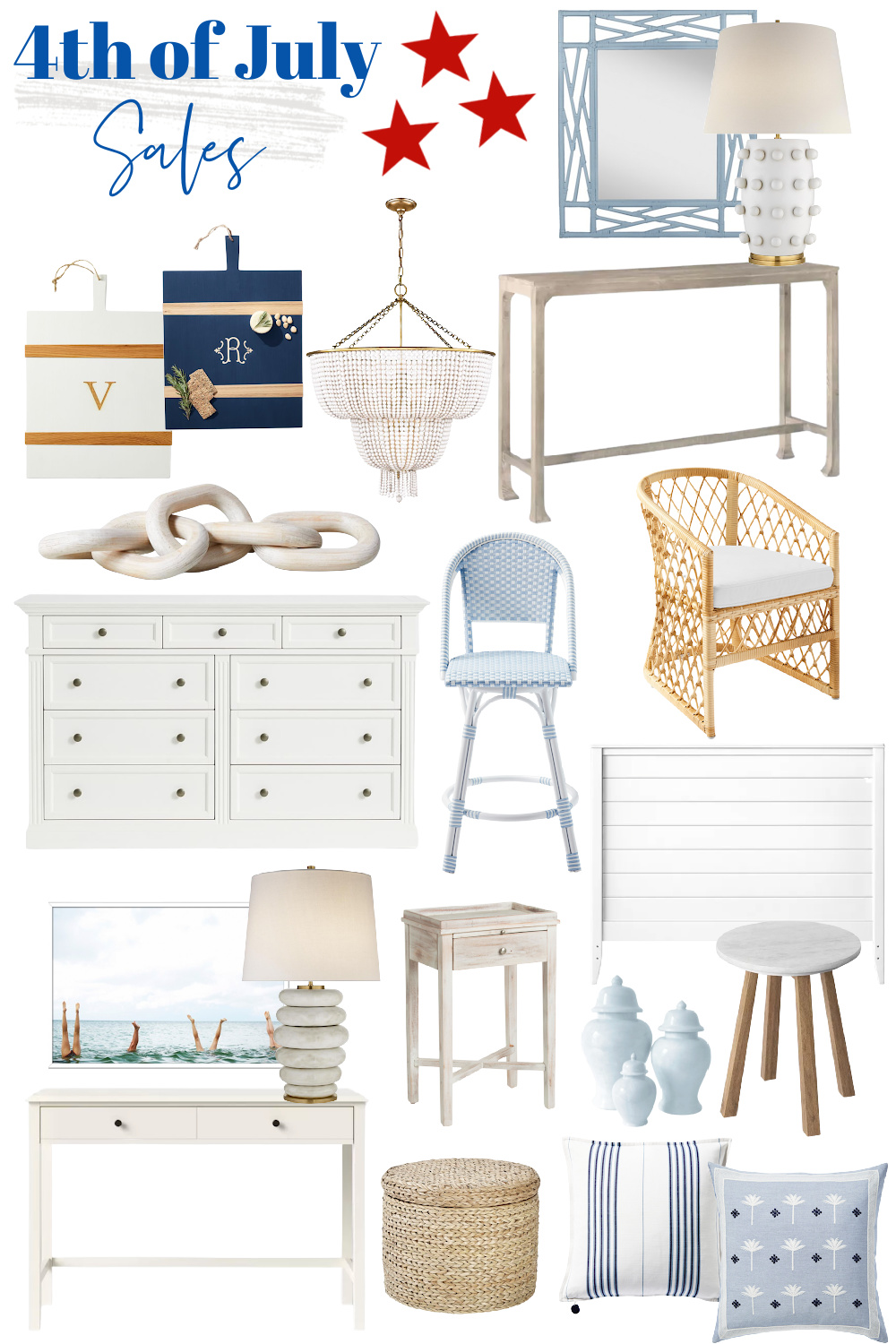 4th of July Sales - Home Decor Sales - 4th of July Home Decor Sales - Serena and Lily Sale - Target Sale - Pottery Barn Sale