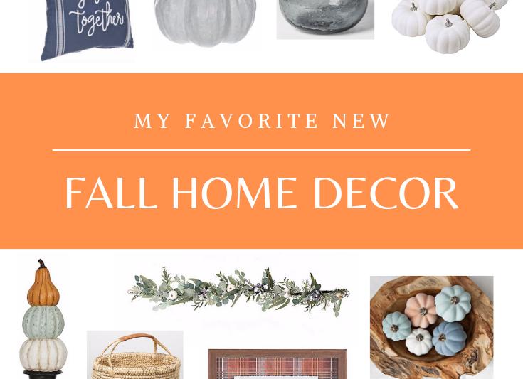 My favorite new fall home decor finds. Lots of great fall decorating ideas. #falldecor #fallhomedecor #autumndecor #plaid #pumpkins