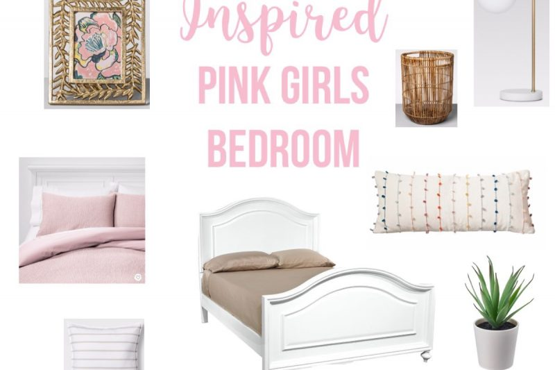Coastal Inspired Pink Girls Bedroom Ideas. Light and bright girly bedroom ideas. #girlsbedroomideas #pinkbedroom #decor