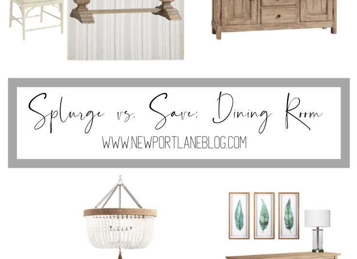 Splurge vs. Save: Dining Room. Get the look for less on a neutral dining room. #lookforless #budgetdecor #diningroomdecor