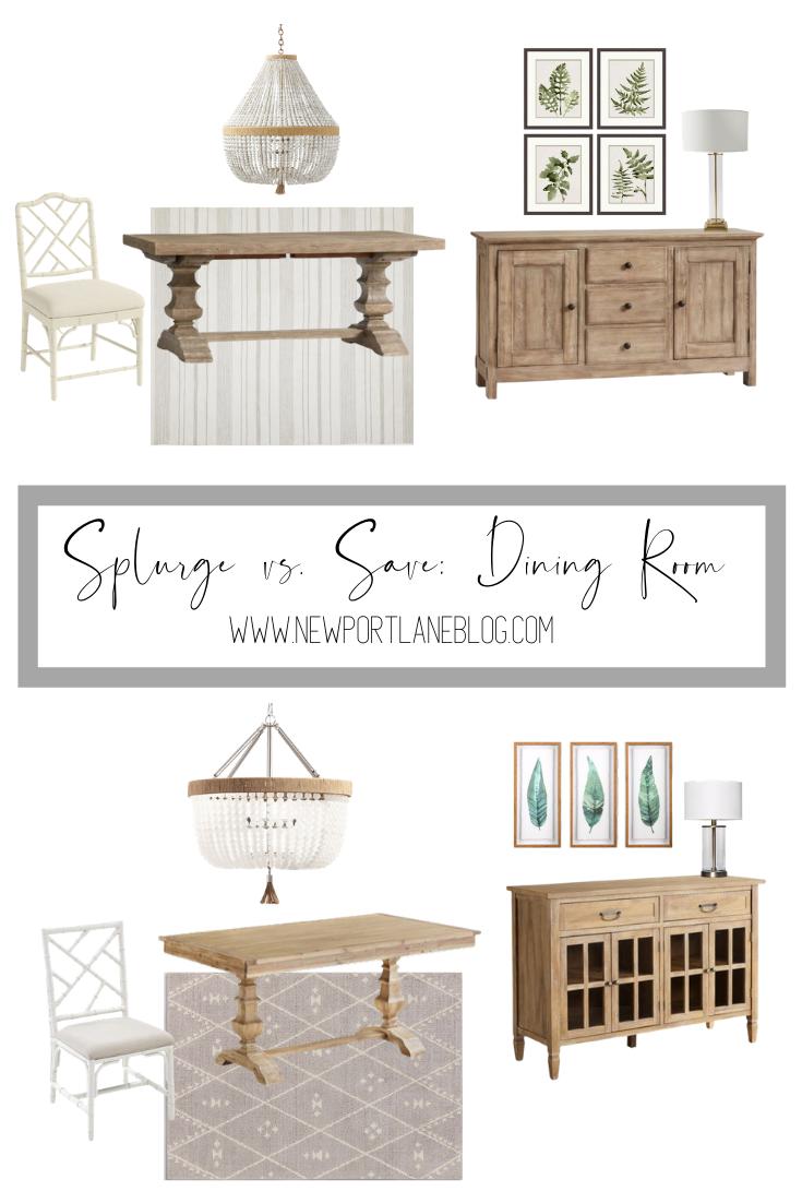 Splurge vs. Save: Dining Room