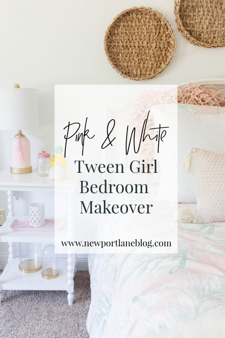 Pink and White Tween Girl Bedroom Makeover