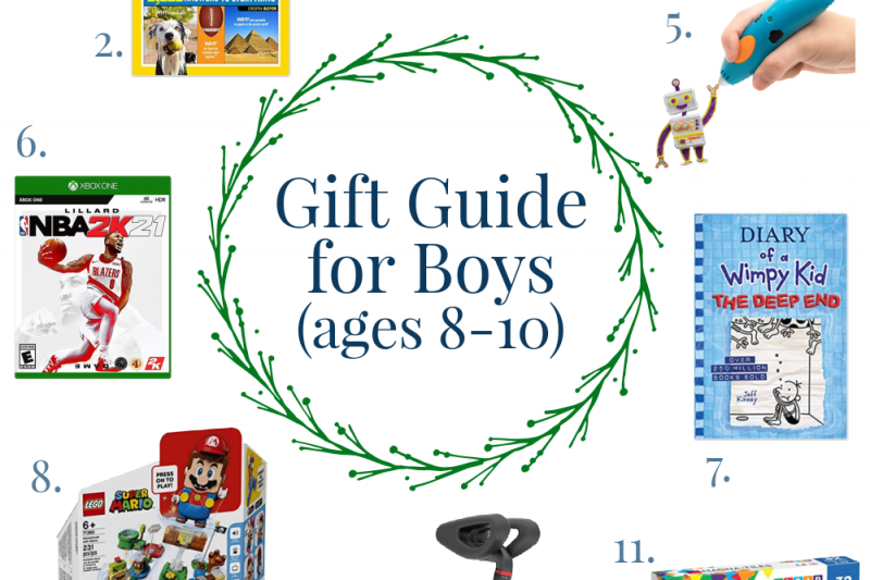 The Ultimate Gift Guide for Boys (ages 8-10)!