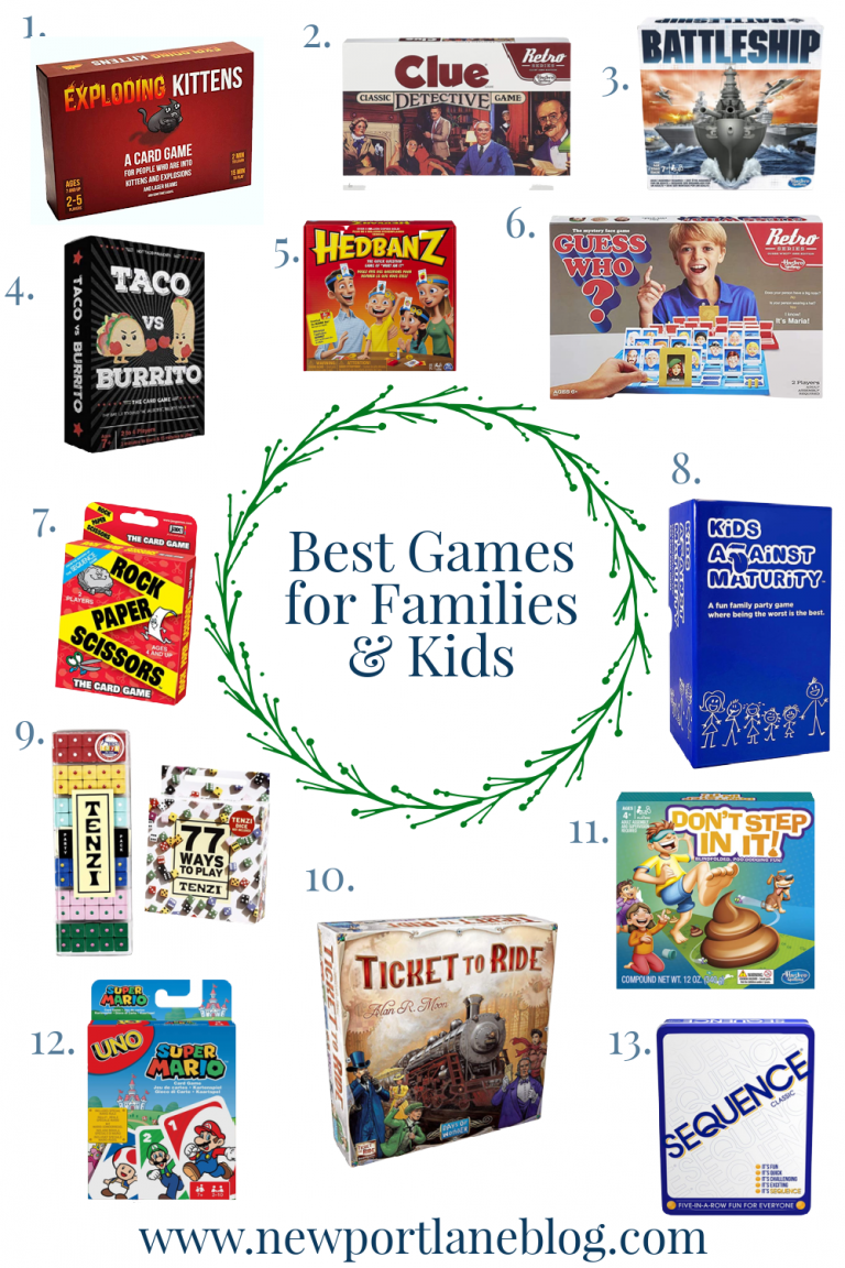 The Best Games for Families and Kids