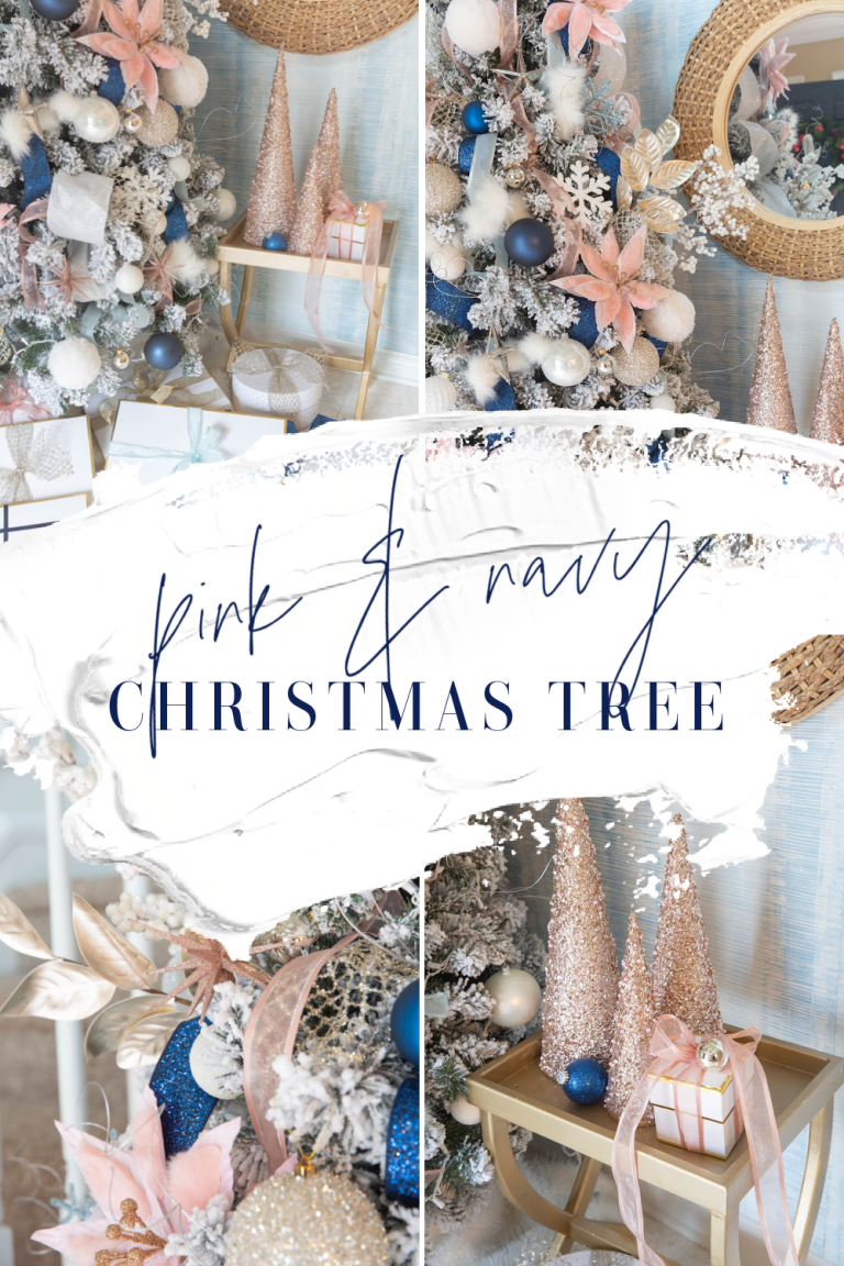Pink and Navy Christmas Tree