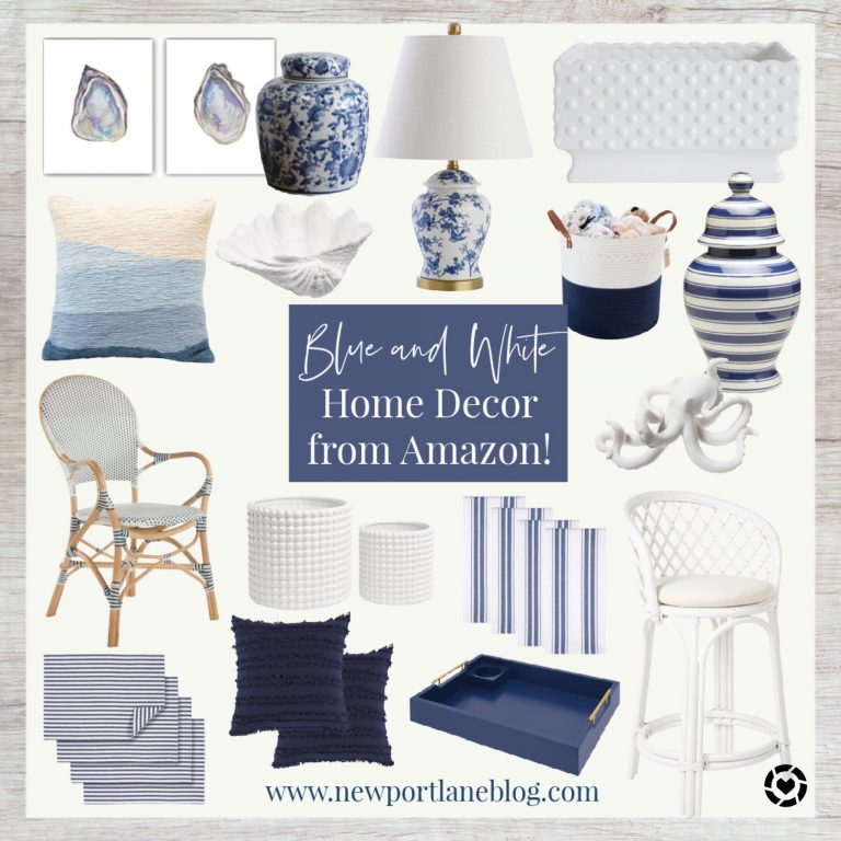 Blue and White Home Decor from Amazon