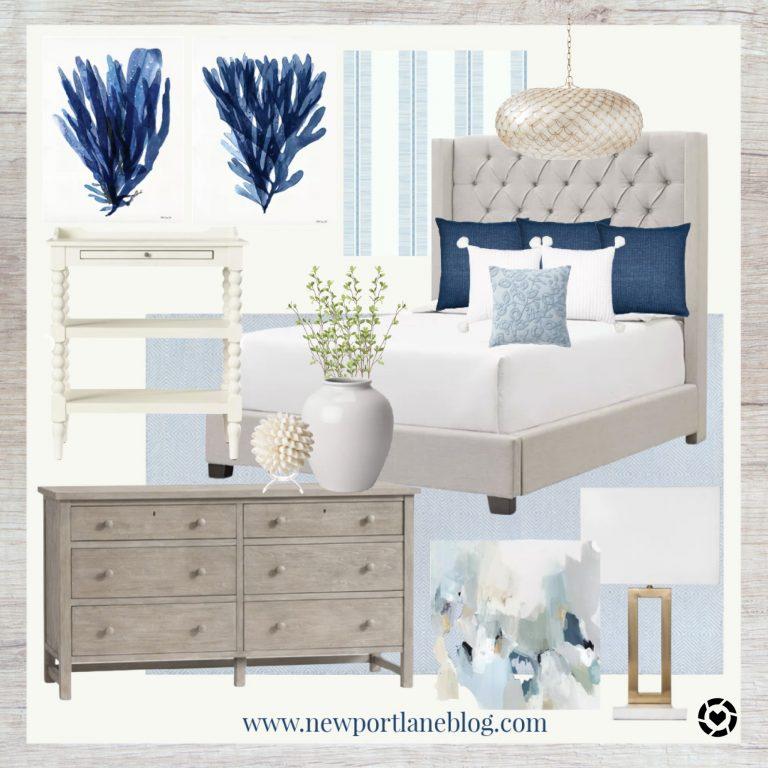 Coastal Bedroom Mood Board