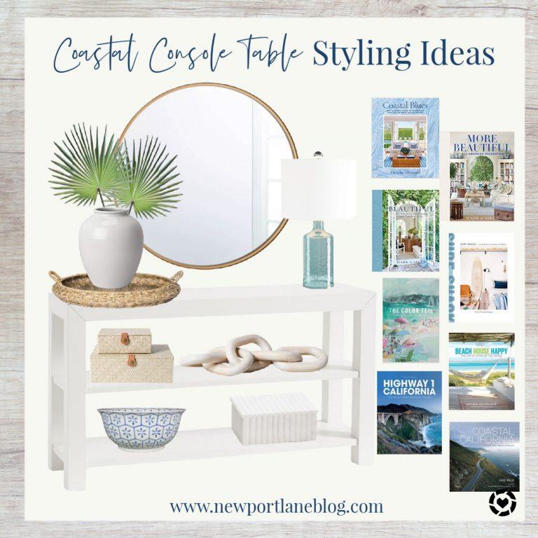 Coastal Console Table Styling Ideas