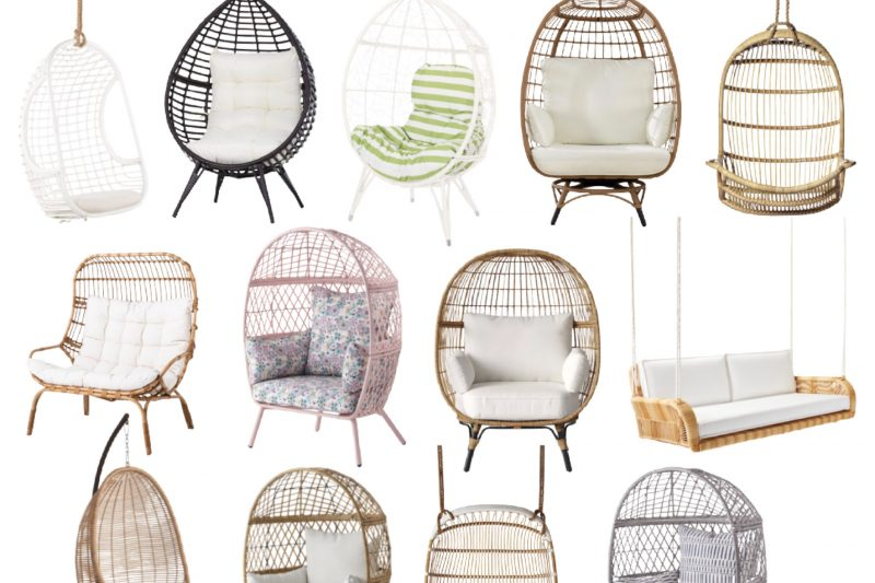 Egg Chairs | Outdoor Swings | Summer Entertaining | Patio Furniture | Outdoor Furniture | Serena and Lily Outdoor Swing | Better Homes and Garden Egg Chair | Walmart Egg Chair | Kid's Egg Chair | Target Egg Chair | Studio McGee Egg Chair