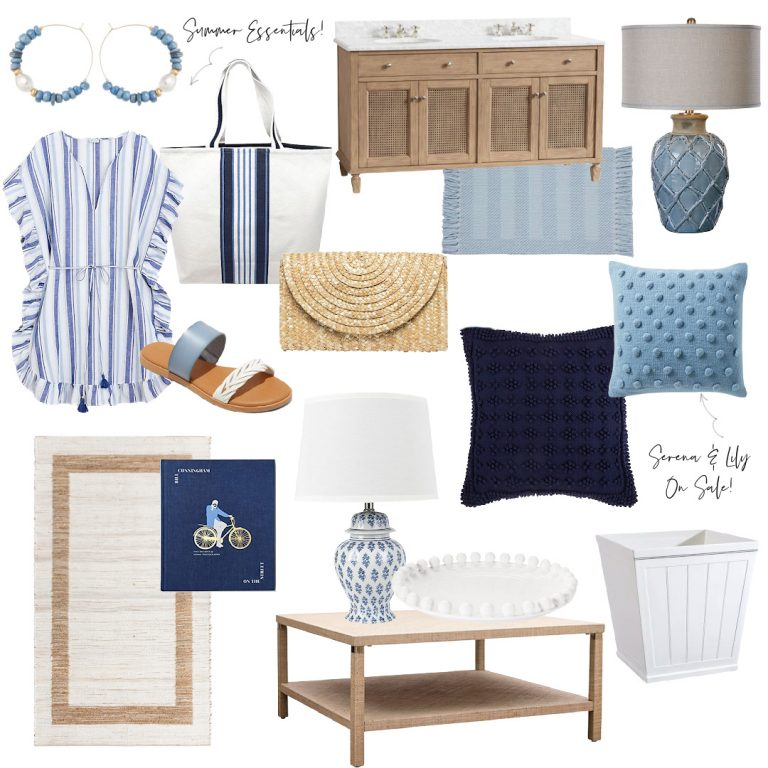 New Blue and White Home Decor