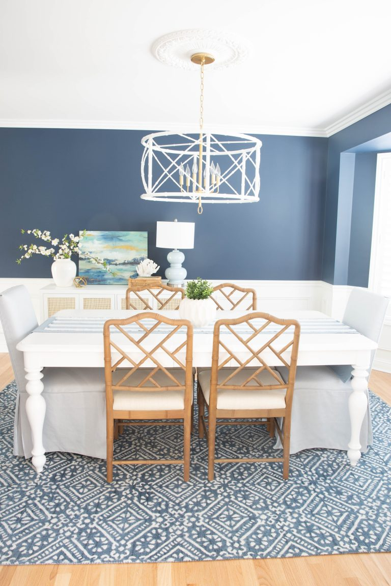 Our Navy Blue Dining Room