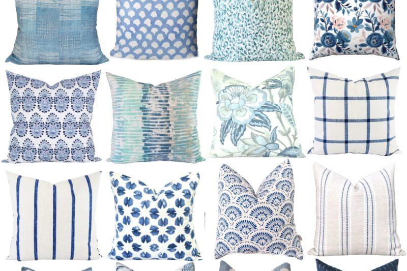 Blue Pillow Covers 20x20 - Blue Pillow Covers 18x18 - Blue Pillow Covers Amazon - Blue Throw Pillow Cover - Navy Blue Pillow Cover - Light Blue Pillow Cover - Blue 20x20 Pillow Cover - Blue Linen Pillow Cover
